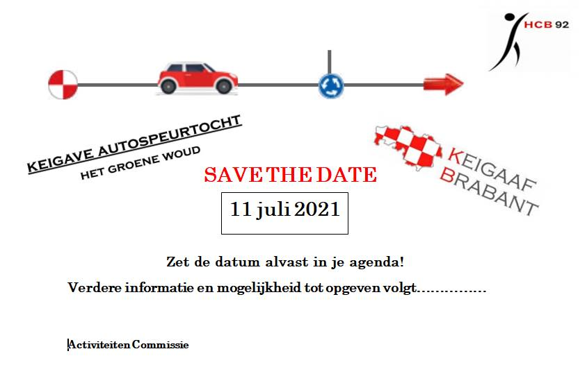 Save the date! Keigave auto speurtocht